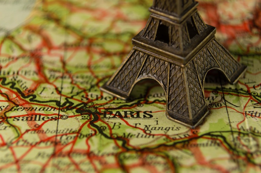 paris, france, ornaments, map, souvenir, souvenirs, Eiffel Tower, miniature, travel, tourism, europe, close-up