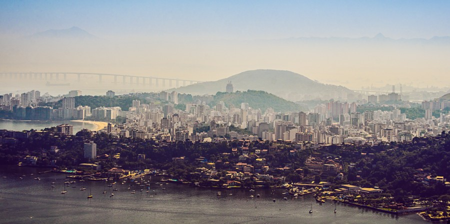 Rio De Janeiro, Capital, Day, Summer, Bahia, Guanabara, city, Landscape, South America, America, Latin, Brazil, Morro,