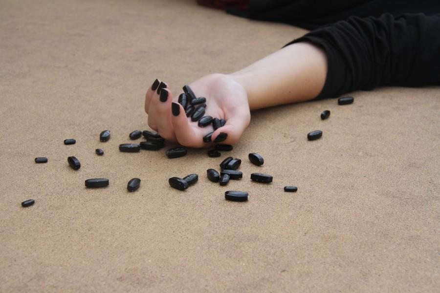 overdose, drug, drugs, addiction, death, black, tablet, tablets, pill, pills, woman, addict, depression, depressive, concept, person, medicine, drugs, illegal,