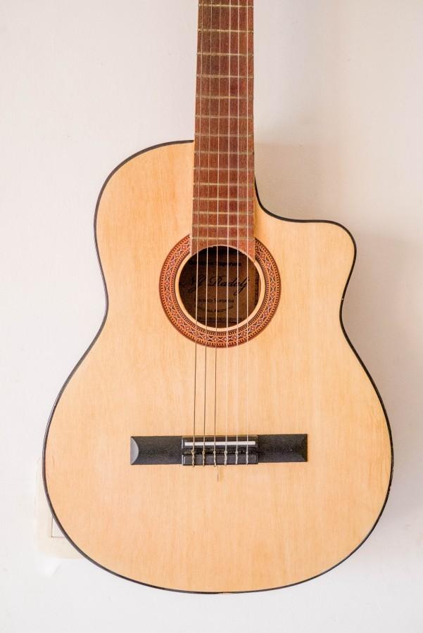 guitar, instrument, music, close up,