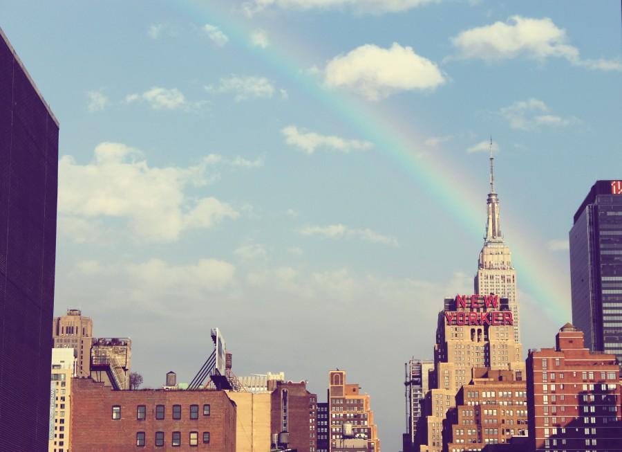 united states, city, usa, america, north america, day, buildings, building, architecture, urban, landscape, rainbow,