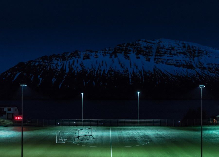 Stadium, soccer, sport, mountains, night, wallpaper