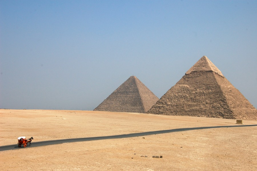 pyramid, pyramids, egypt, day, archeology, architecture, ancient, civilization, ruin, ruins, landscape, wonder, wonders of the world, Africa