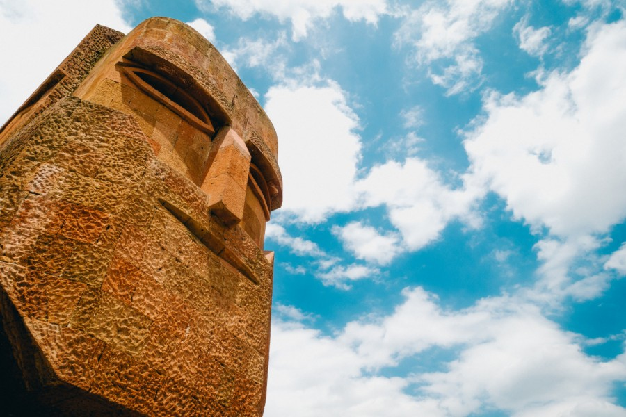 Stepanakert, Karabakh, Nagorno Karabakh, europe, head, monument, rock,