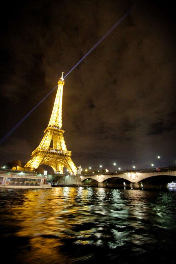 eiffel tower, night, paris, france, light, illuminated, tourist destination, famous site, europe, river, sena,