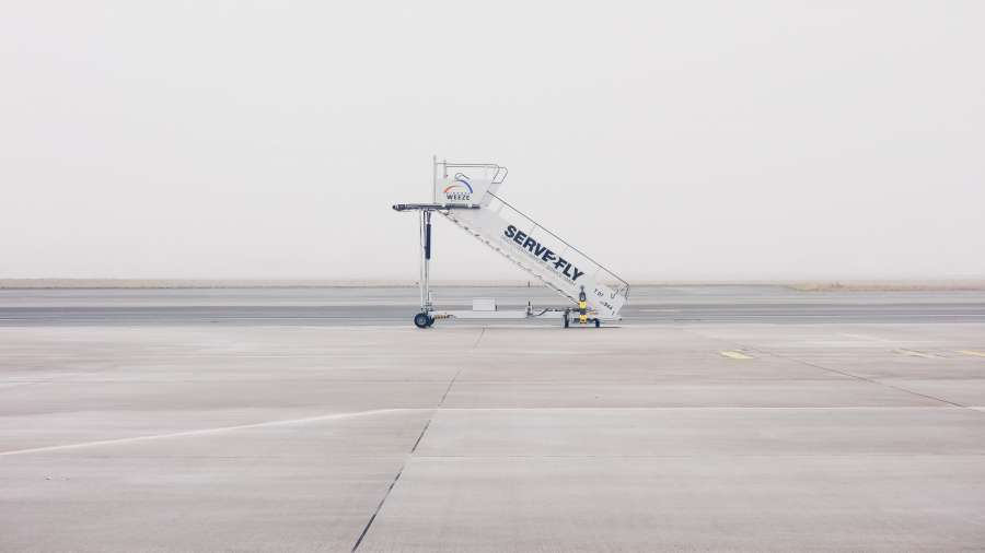 travel, airport, staircase, concept, nobody, airstrip,