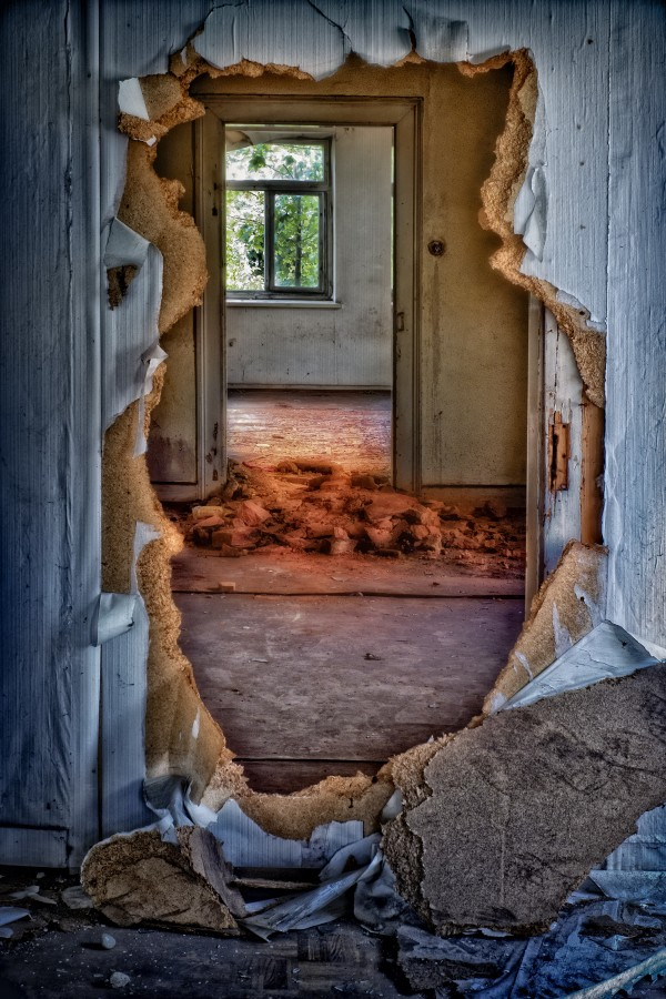 ruin, decay, home, building, dilapidated, up, old, demolished, leaving door, masonry, old building, forget passage, window, hdr, wallpaper, dep, broken, sick, destruction, architecture, decay , Run over, old house, lonely house, lonely, hd wallpaper