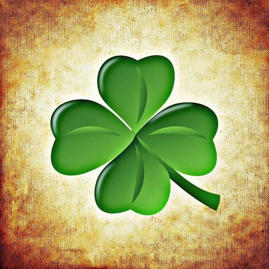 four-leaf clover, lucky, lucky charm, amulet, illustration, green,