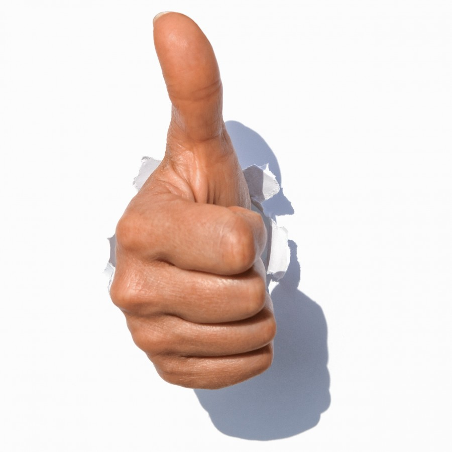 thumb, thumbs up, acceptance, ok, concept, white background, hand gesture,