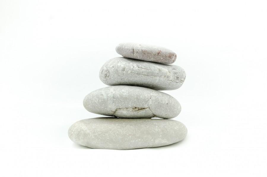 rock, rocks, stone, stones, stack, balance, zen, serenity, white background, concept,