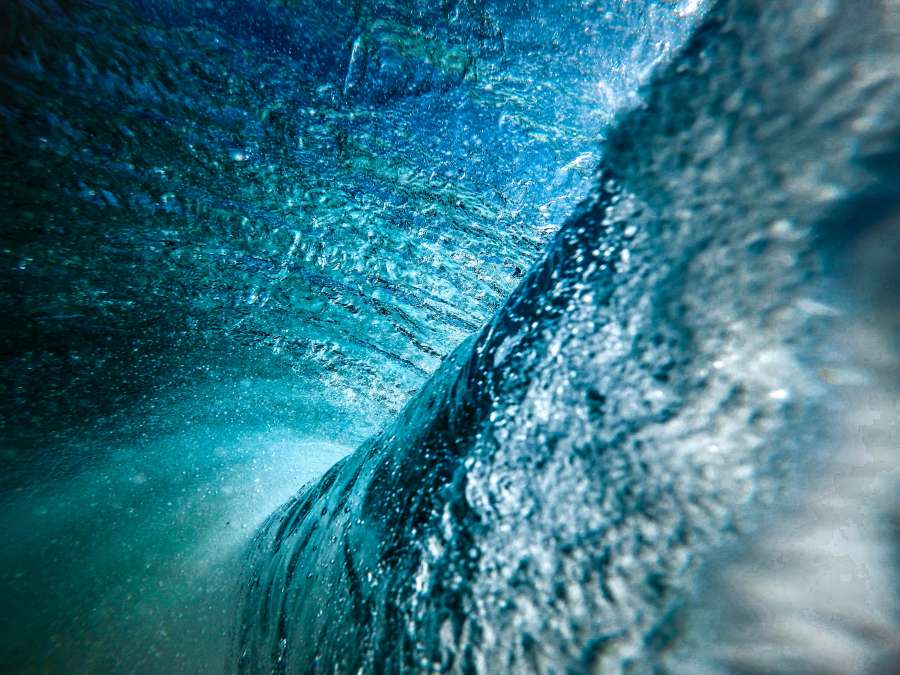 wave, water, blue, sea, background, background, surf, nobody, tunnel,