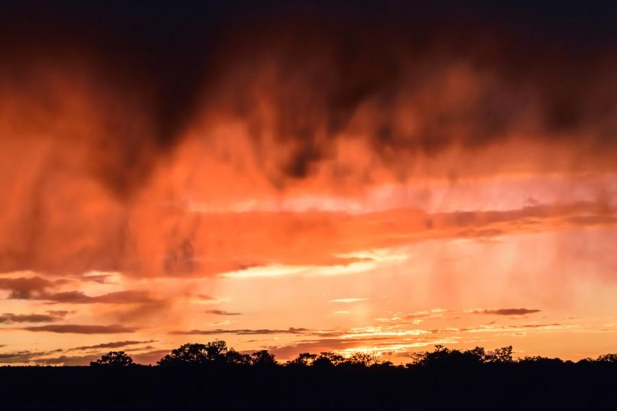 landscape, sunset, sunset, sky, orange clouds