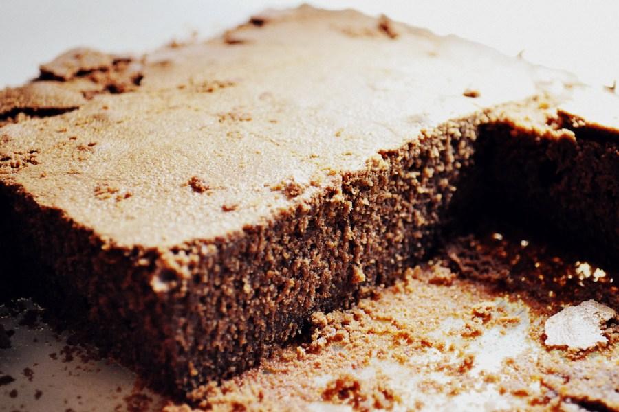 dessert, cake, pie, ice cream, ice, kitchen, food, sweet dish, chocolate, prensentacion, front view, serving brownie