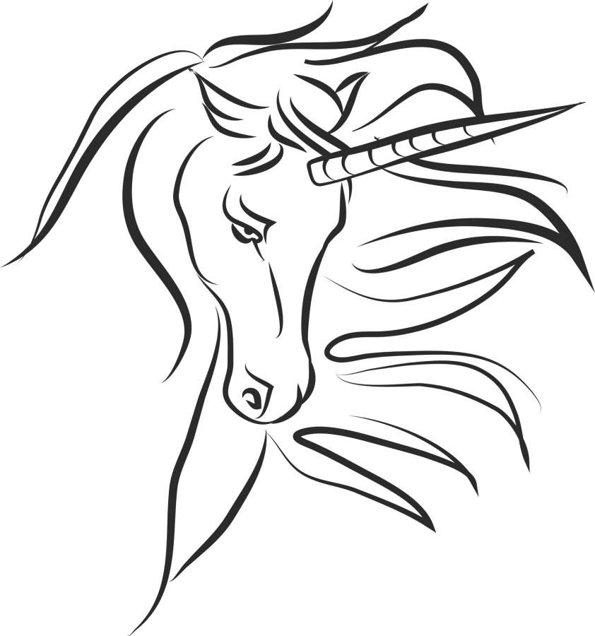 Image Of Unicorn Coloring Page Free Photo 100011188