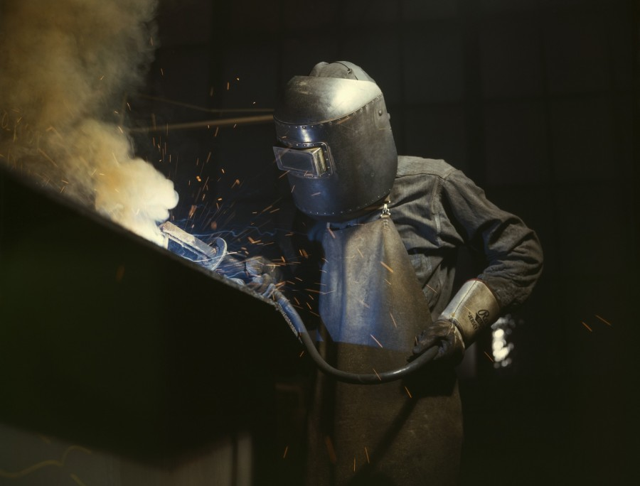 welding, soldering, man, metallurgical, mask, work, worker, industry, welder,