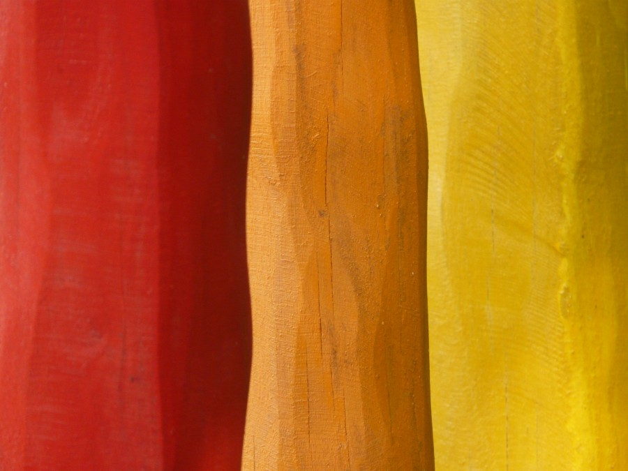 wood, painted, bars, color, red, orange, yellow, paint, color, art, artwork, background, texture, color, warm,