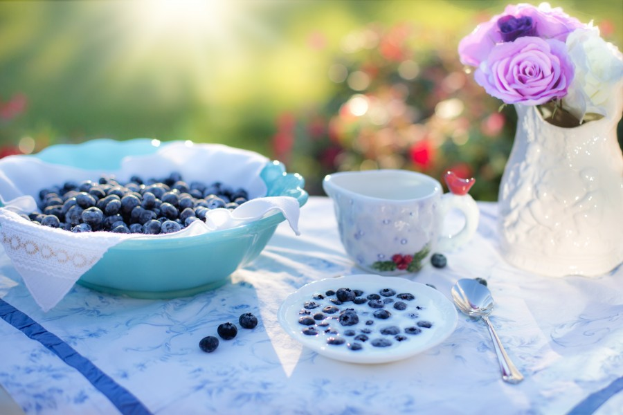 blueberries, cream, dessert, breakfast, blueberry, food, berry, fruit, delicious, food, healthy, diet, snack, tasty, sweet, food and beverage, decoration