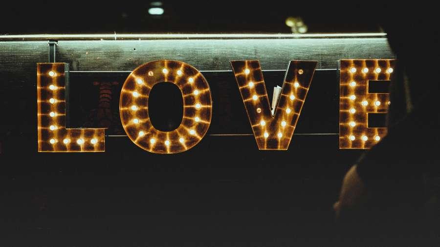 poster, sign, night, light, lights, love, bar,