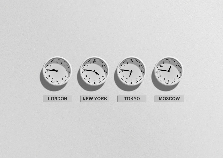 clocks, time, time, world, travel, london, new york, tokyo, moscow, tokyo, four, white background, schedules, time zones, nobody, concept,