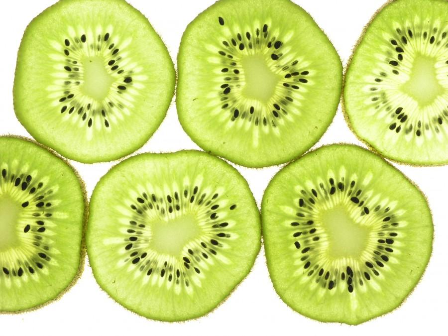 kiwi, fruit, fruits, fruity, green, background, background, white background, sliced,