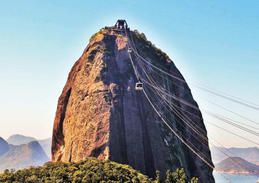 Rio De Janeiro, Capital, Day, Summer, Bahia, Guanabara, city, Landscape, South America, America, Latin, Brazil, Morro, Latin America, Cable Carril, Sugar Loaf, Sugarloaf, hairlift