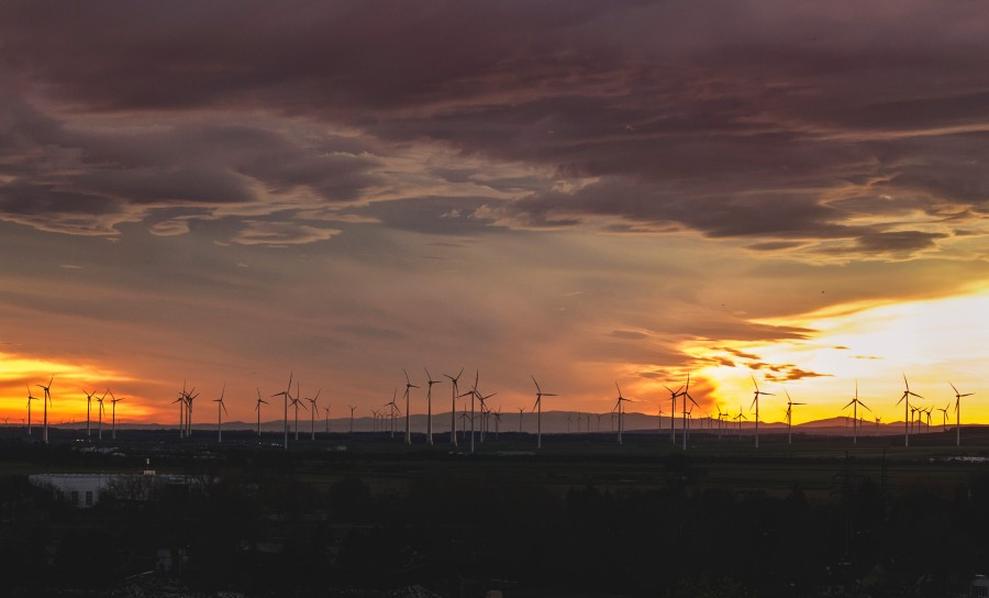 wind turbine, field, electricity, sunset, energy, renewable, concept, wind,