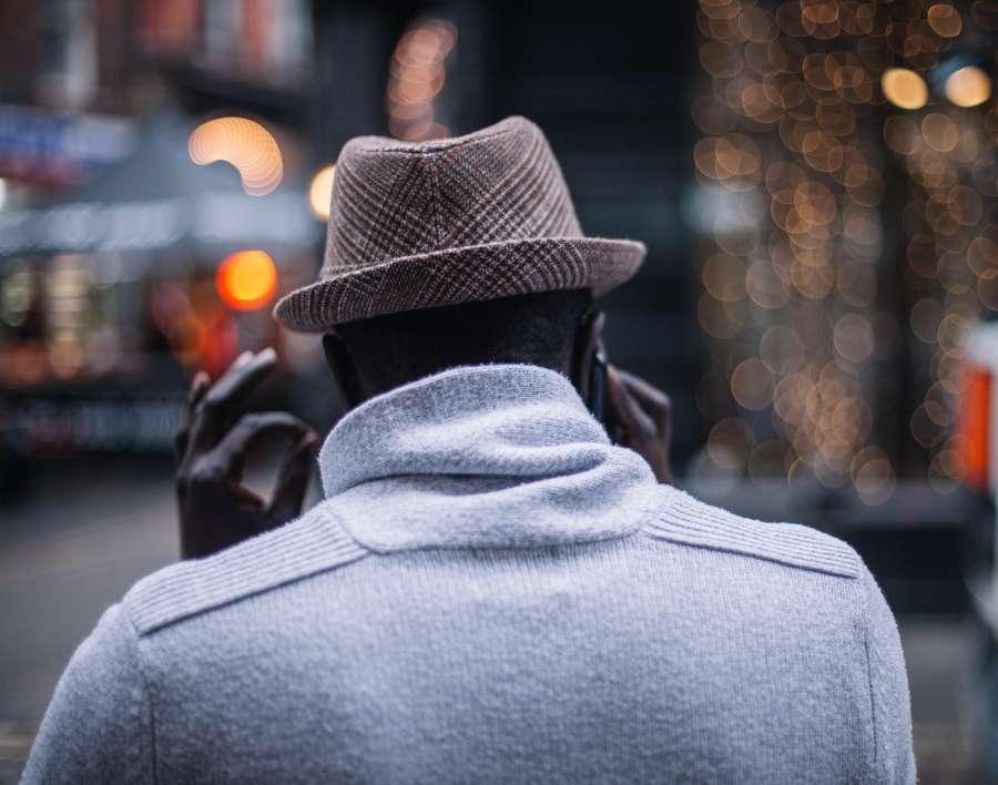 man, walking, coat, corduroy, hat, gloves, cold, winter, europe, fashion,