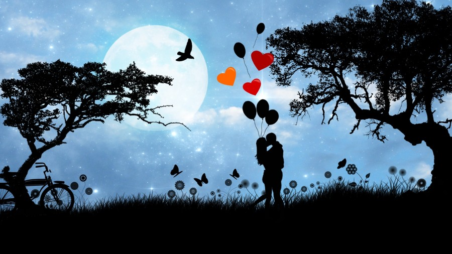 Image Of Hd Love Backgrounds In Love With Balloons Free
