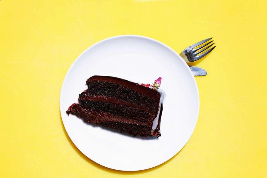 cake, chocolate, cake, sweet, food, celebration, slice,