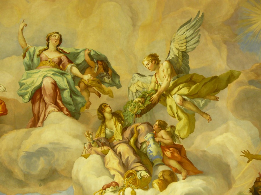 mural, painting, renaissance, 1600s, europe, angels, religion, cool,
