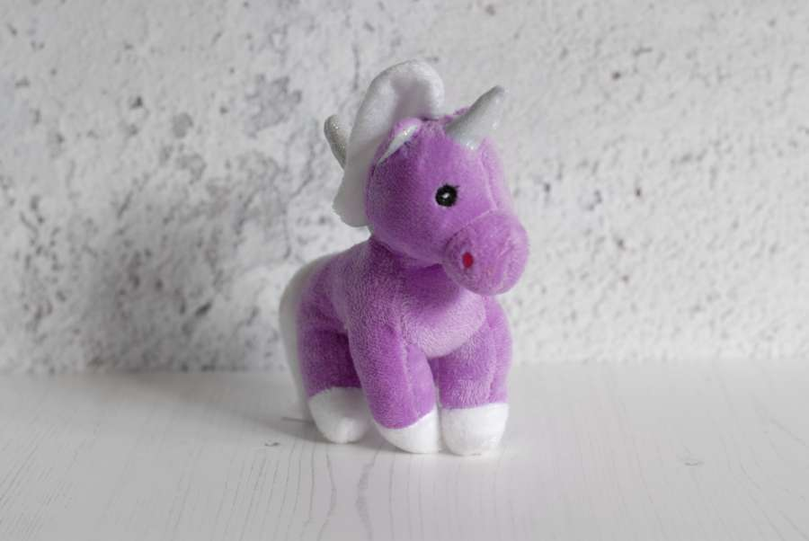Puppy Makes Mischief Stuffed Animal, Image Of Infant Unicorn Violet Plush Toy Free Photo 100011219