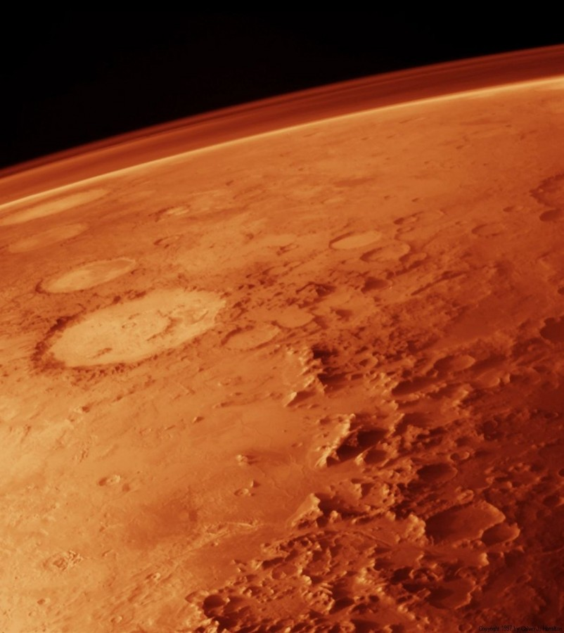 mars, planet, atmosphere, red planet, space, space travel, solar system, red,