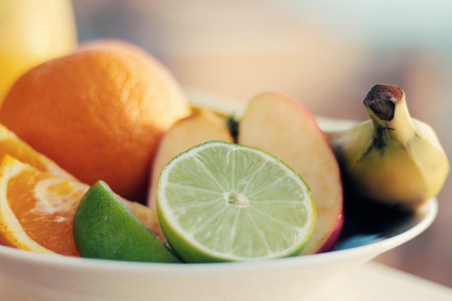fruit, fruits, banana, lime, lemon, apple, healthy, breakfast, food, citrus, close-up, group,