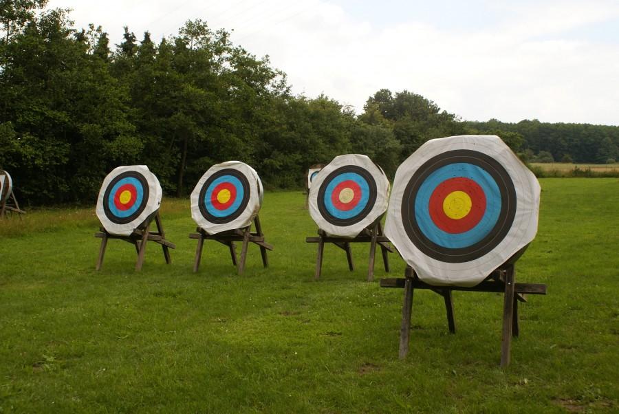 archery, shooting, white, circle, marksmanship, sport, precision, aim, olimpico, archery, shooting, target, nobody,