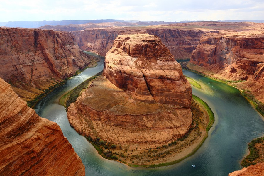 Horseshoe Bend, American landscape, bend, canyon, landscape, famous, colorado river, arizona, united states, glen canyon national recreation area, wallpaper hd