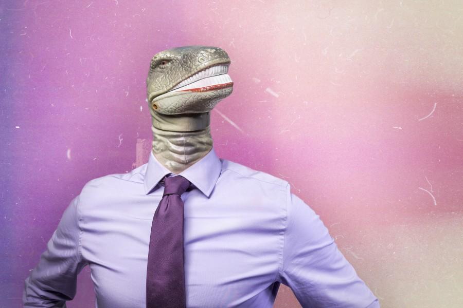 Man, executive, concept, sect, reptilian, reptile, head, lizard, dinosaur,