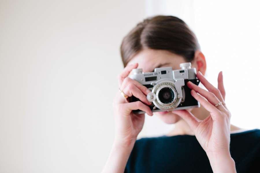 one person, woman, photography, photography, camera, close-up, taking, vintage, old, focus, aim, shot, lens, objective,
