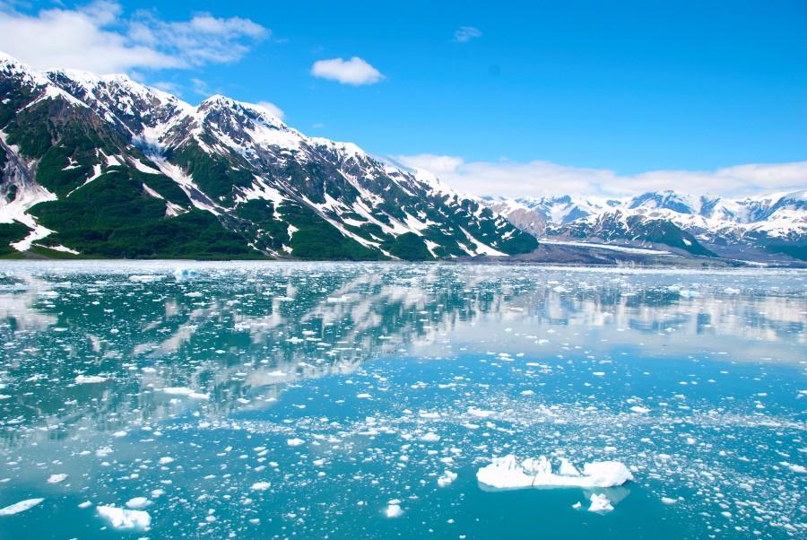 alaska, frozen, glacier, mountains, snow, lake, ice, landscape, winter, cold,