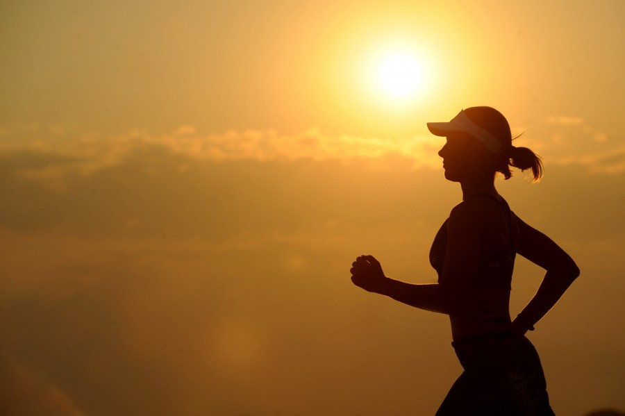one person, people, woman, sunset, sunset, sunset, running, sport, shadow, young, activity, running, outdoor,