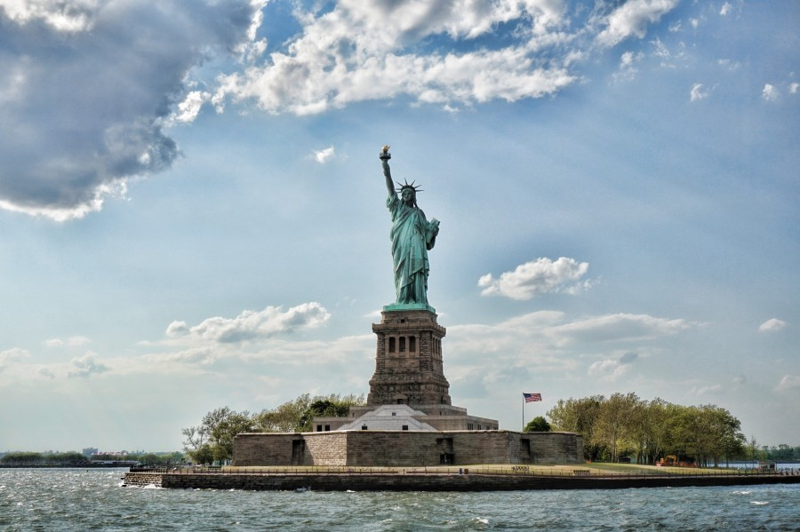 statue, liberty, usa, new york, united states, landscape, famous, architecture, wonder, monument, Liberty Island, symbol structure, the seven wonders of the world