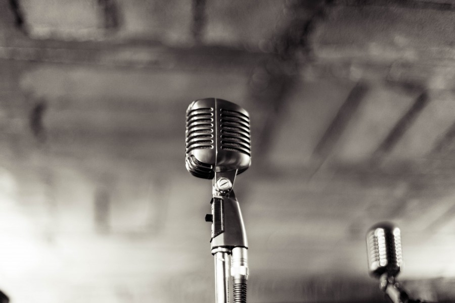 microphone, stand, recording, studio, music, garage, entertainment,