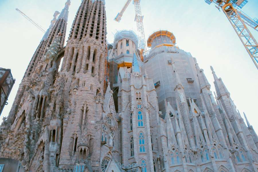 Sagrada Familia, cathedral, church, barcelona, ??spain, gaudi, architecture, europe, famous place,