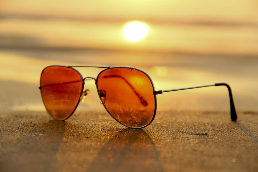 sunglasses, sunset, brown, sunglasses, sunny, retro, vintage, object,