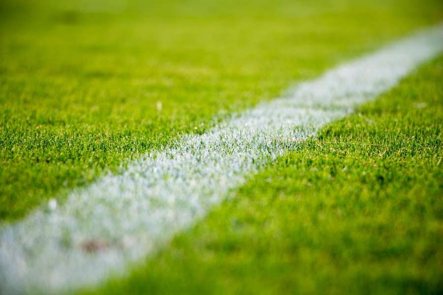 soccer, field, line, limit, grass, green, sport, lateral, field of play, pitch,