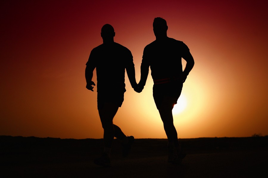 Gay Photo, sunset, background, hand, two people, men, women, couples, homosexuality, gay, sex, sexuality, same sex, love, gender equality, walking, running, together, lovers, boyfriends, Photos gay men pictures Free, free pics, free gay pictures, gay men pictures