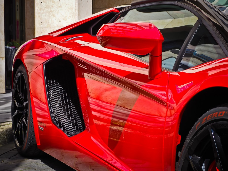 lamborghini, ferrari, red, auto, truck, car, sports, red, luxury, detail, nobody,