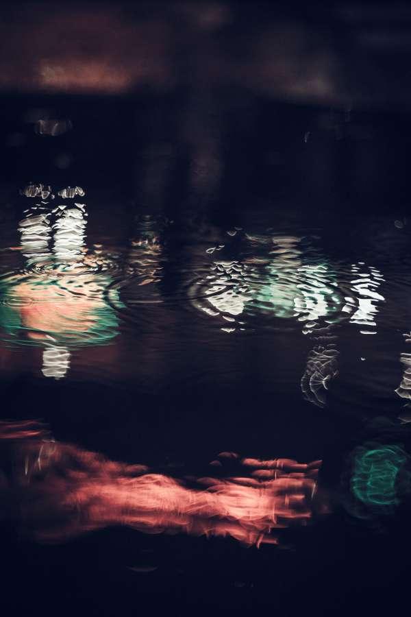 rain, wet, water, reflection, street, exterior, night, background, background, nobody,