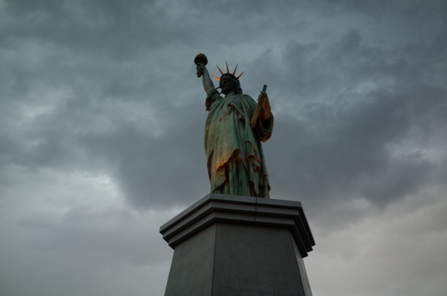 Statue of Liberty, New York, USA, United States, Sightseeing, Cloudy, exterior, monument, freedom, america, symbol, Freedom