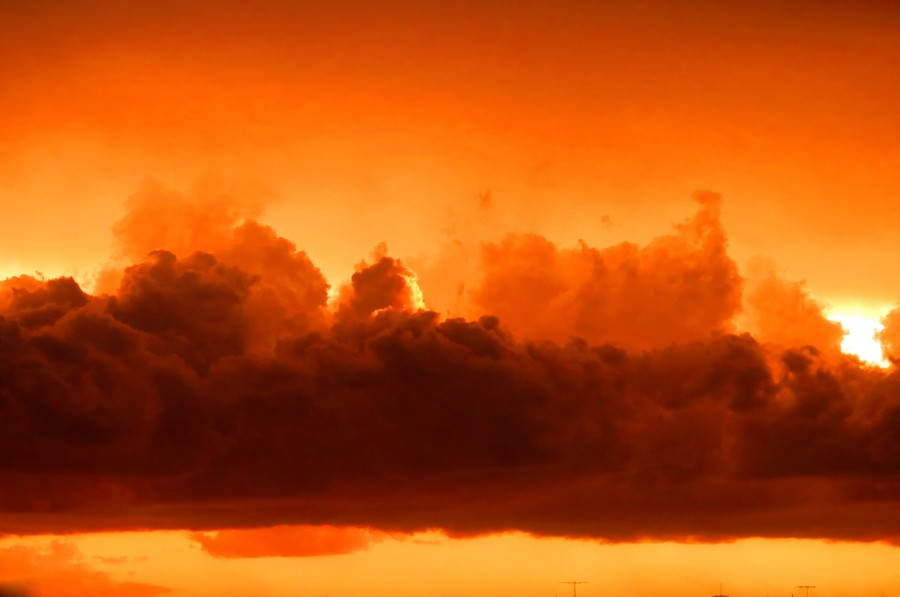 cloud, clouds, storm, sunset, red, orange, nature, close-up, nobody, cloudy,