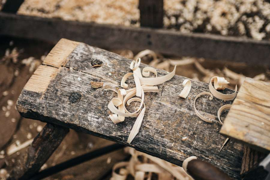 wood, splinter, sawdust, carpentry, interior, work, molding, carpenter, nobody, detail, brushing,